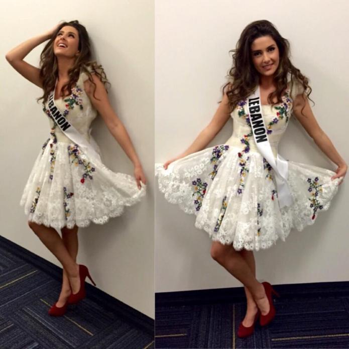 Miss Lebanon's selfie brings a firestorm