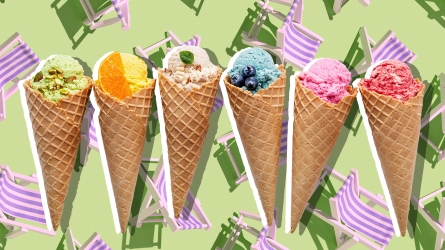 Various of ice cream flavor in