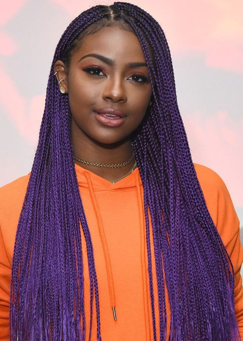 Best Celebrity Braids: Justine Skye | Celeb Hair Inspo 2017