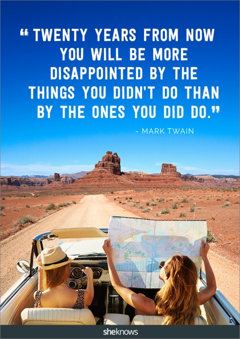 A travel quote by Mark Twain