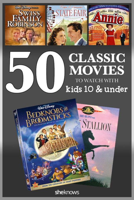 50 Classic Movies To Watch With Kids Pin image