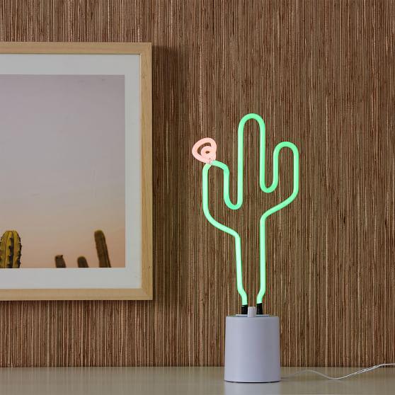Sunnylife Neon Cactus Table Light