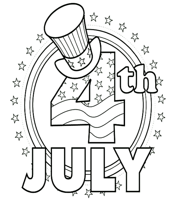 It is a graphic of Universal Fourth of July Printable Coloring Pages