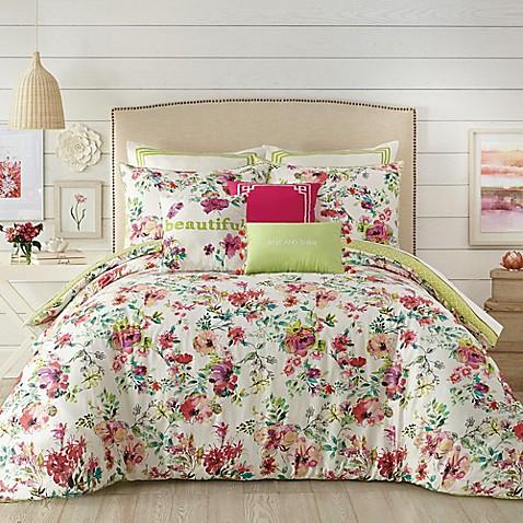Jessica Simpson Watercolor Garden Comforter
