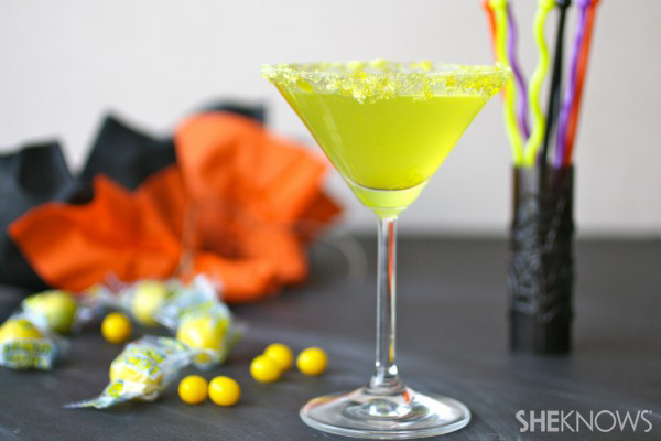 30 Halloween Cocktails & Mocktails That'll Take Your All Hallow's Eve to the Next Level: Lemonhead Martini