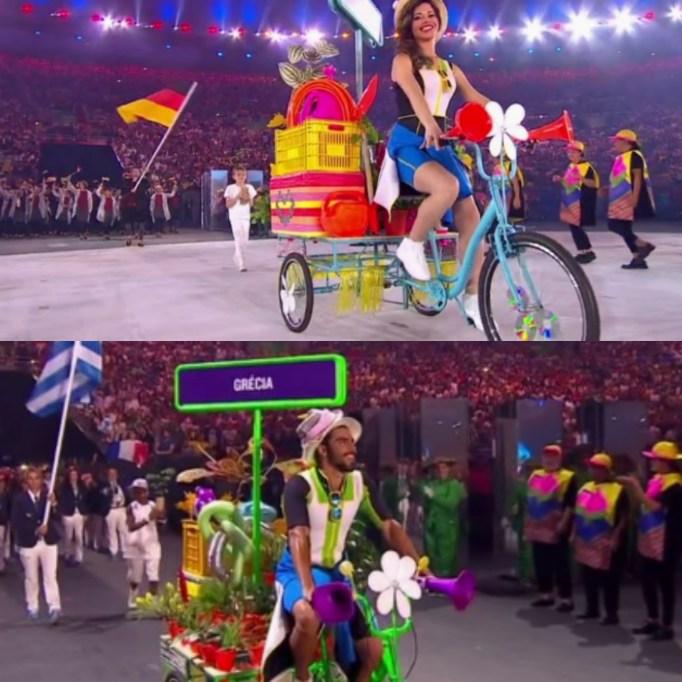 Opening Ceremony Olympics bikes