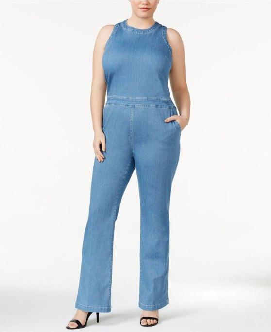 Cool Denim For Fall: Denim jumpsuit | Fall Fashion 2017