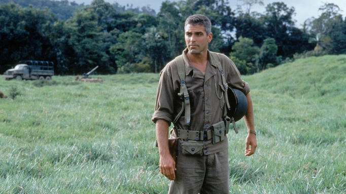 George Clooney in The Thin Red Line