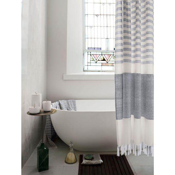 Karla Cement Shower Curtain
