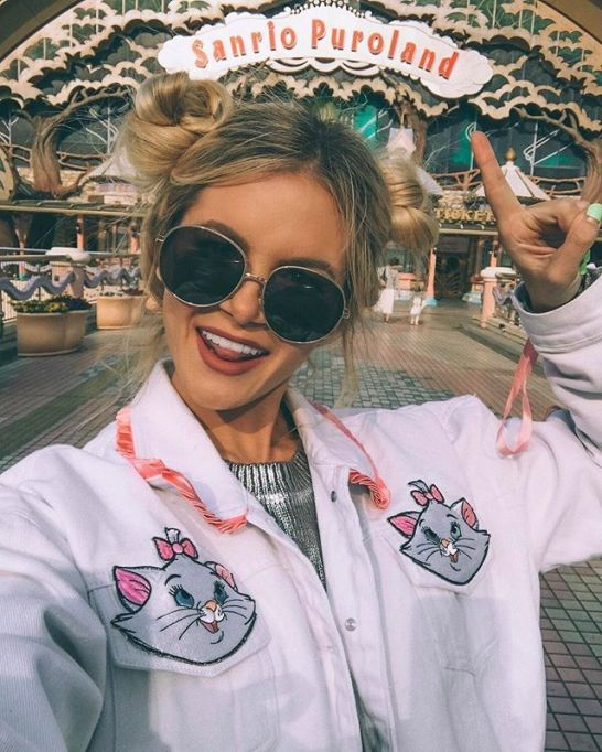 Model-Approved Hairstyle Ideas to Copy This Summer: Amber Fillerup Clark's double buns   Summer Hair