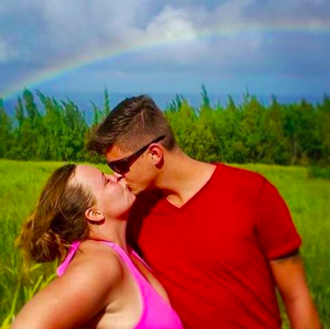 Tyler Baltierra and Catelynn Lowell kissing