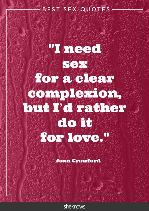 Steamy celebrity sex quotes: Joan Crawford
