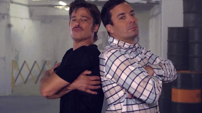 Brad Pitt and Jimmy Fallon have