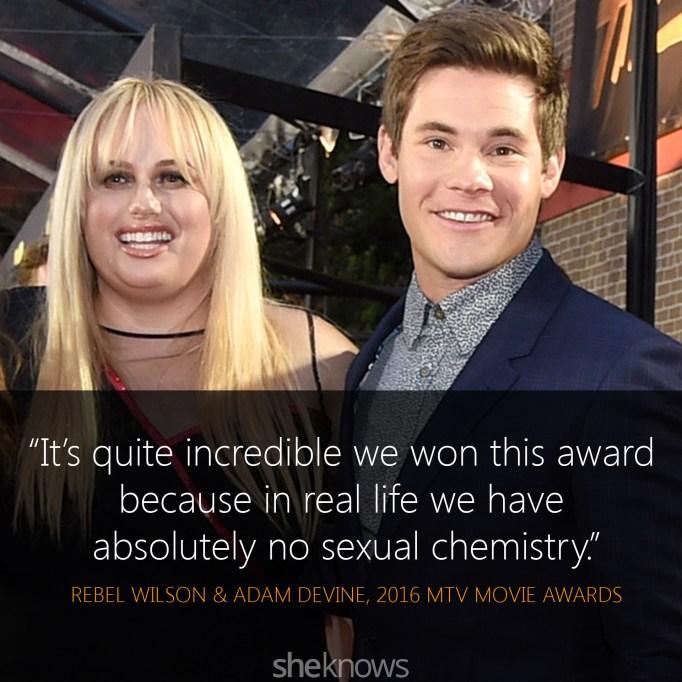 Rebel Wilson & Adam DeVine quote MTV Movie Awards
