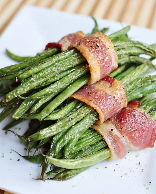New Ways to Serve Up Green Beans This Thanksgiving: bacon green bean bundles
