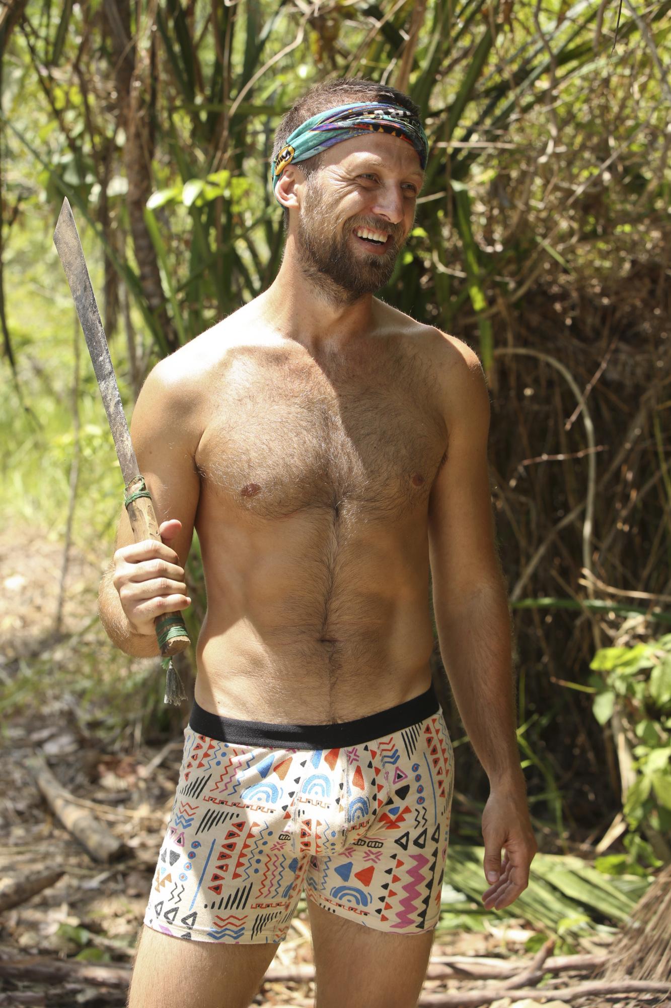 Vytas Baskauskas walks around in his underwear on Survivor: Second Chance