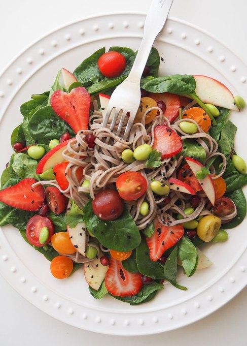 50 Easy Summer Salads | vegan soba spring noodle salad