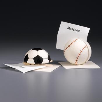Craft: Styrofoam baseball memo holder
