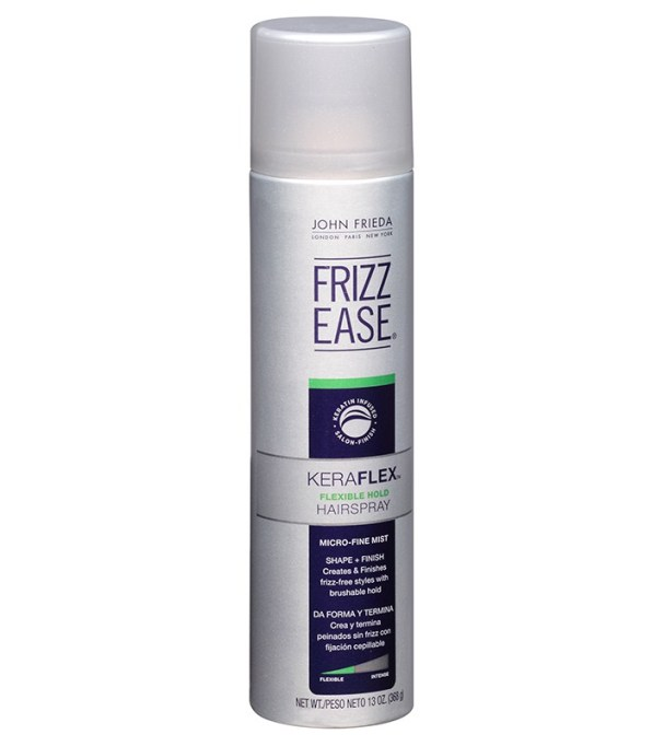 The Absolute Best Frizz-Fighting Hair Products: John Frieda Frizz Ease Keraflex Flexible Hold Hairspray | Hair Care 2017