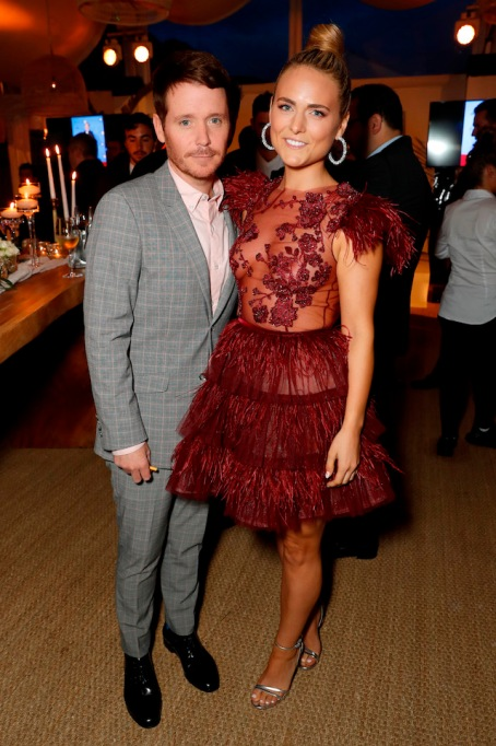 Kevin Connolly and Francesca Dutton attends the HFPA Event with Particpant Media to Honor the Kailash Satyarthi Children's Foundation in partnership with Renault at Nikki Beach