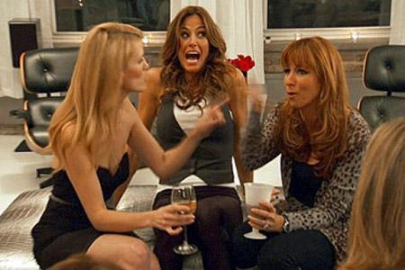 Three stars of Real Housewives of