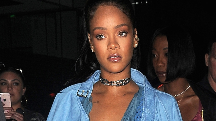 Rihanna and Drake seen leaving Tape