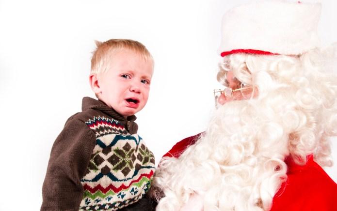 Kids meeting Santa in slow-motion shows