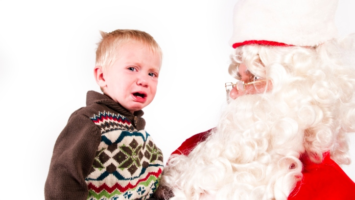 Kids meeting Santa in slow-motion shows
