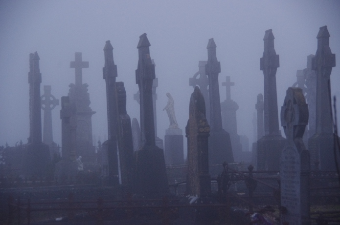 scary graveyard/cemetary in galway