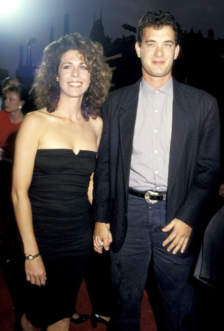 Rita Wilson and Tom Hanks at the 'Dragnet' premiere