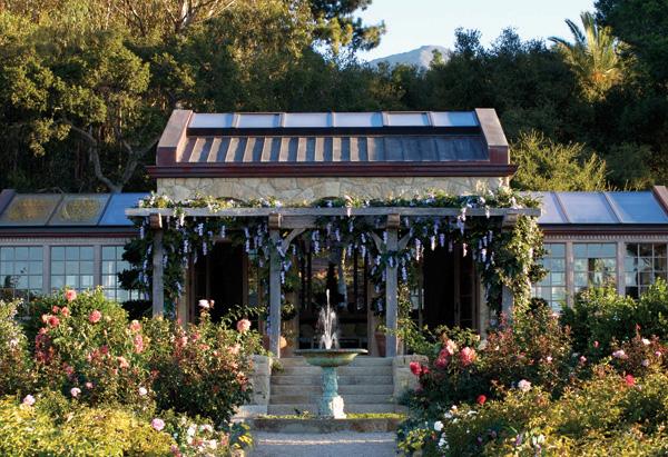 Oprah Winfrey's Montecito home rose garden