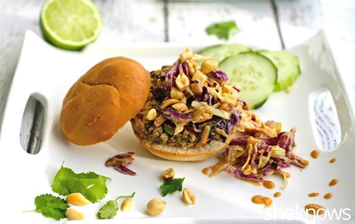 30-Minute vegan Thai sliders with spicy
