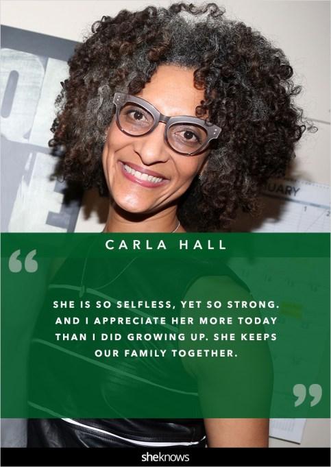 Carla Hall mom quote