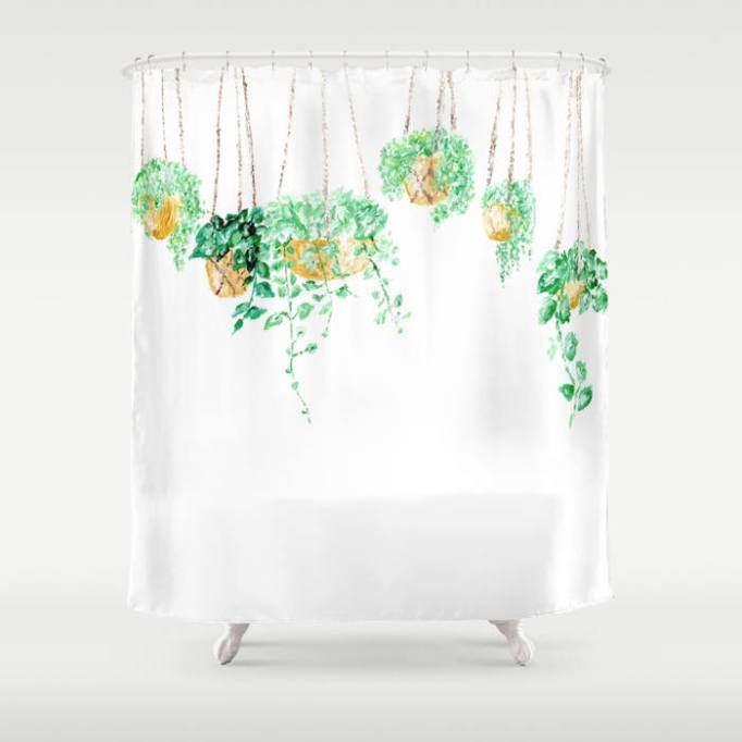 Hanging Plant Shower Curtain