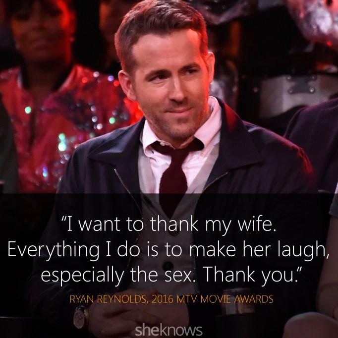 Ryan Reynolds quote MTV Movie Awards