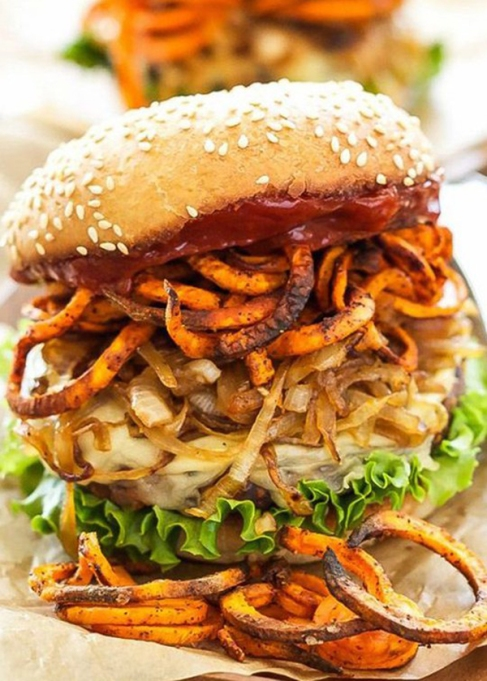 Santa Fe loaded veggie burger