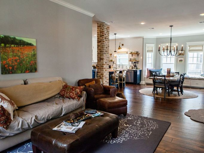Fixer Upper Houses for Rent: Get cozy in The Downs' living room
