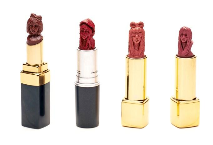 Celebrity lip sculptures