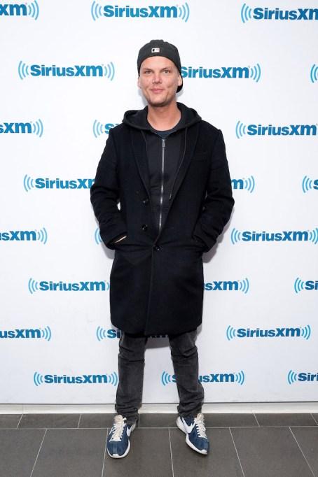 Avicii visits SiriusXM Studios in February 2016