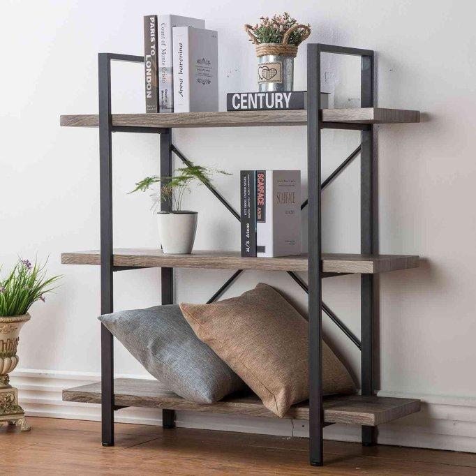 HSH Furniture 3-Shelf Bookcase