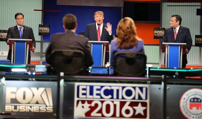 The first GOP debate of 2016,