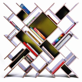 The wild geometric bookcase