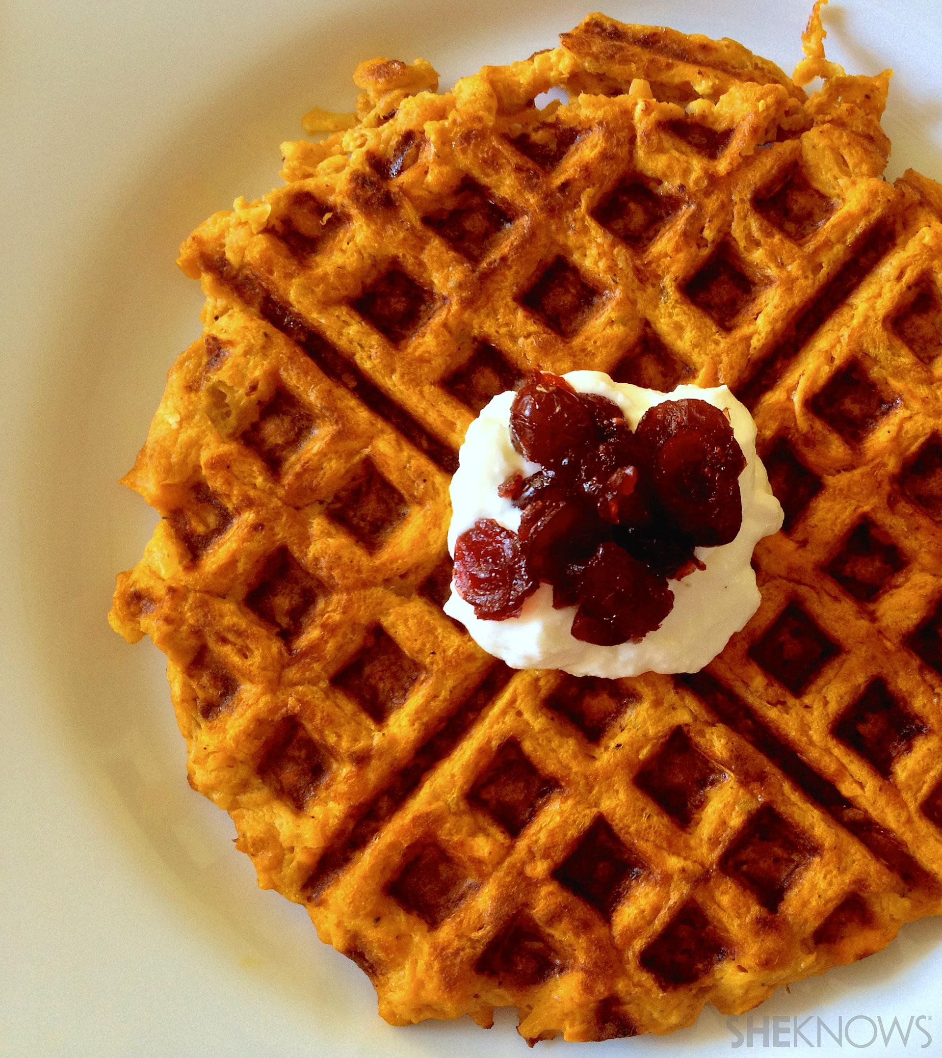 sweet potato hash brown waffles