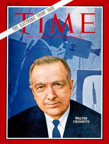 Walter Cronkite on the cover of Time