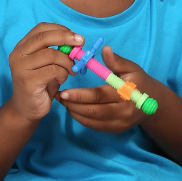 Gifts for kids with autism: Nuts and Bolts Fidget Rod
