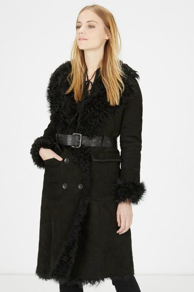 Warehouse shearling coat