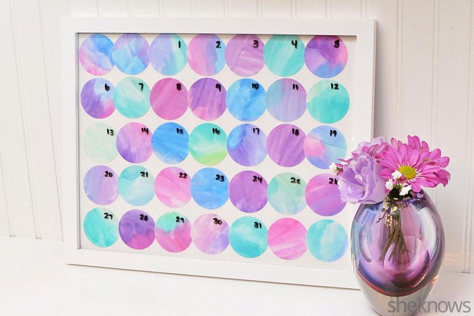 DIY perpetual dry erase calendar
