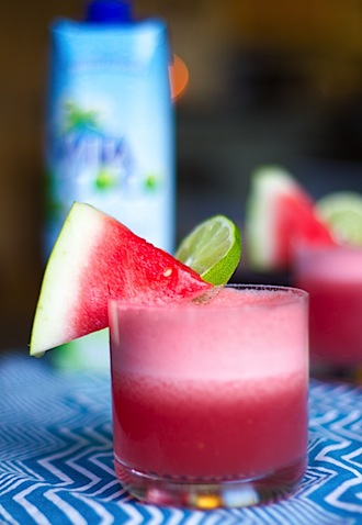 Watermelon coconut cocktail