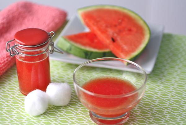 DIY Watermelon face toner