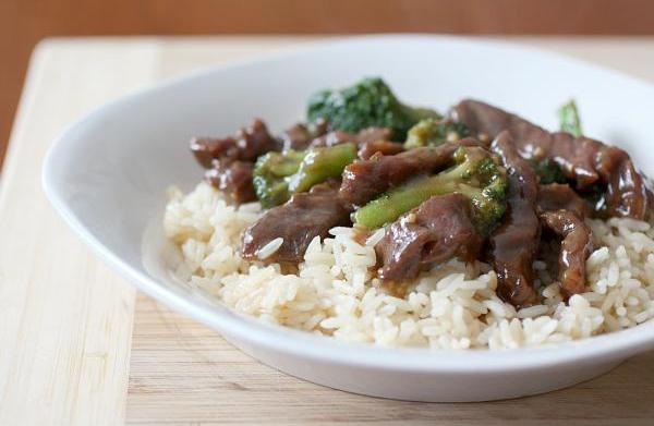 Homemade beef and broccoli